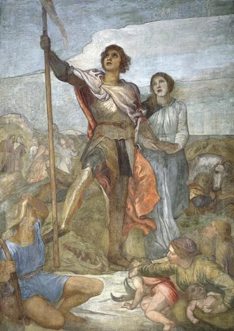 The Red Cross Knight Overcoming the Dragon | George Frederic Watts | Oil Painting