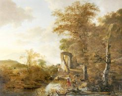 Landscape withan Arched Gateway | Adam Pynacker | Oil Painting