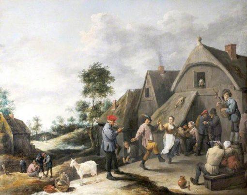 La fete du hameau | David Teniers II | Oil Painting