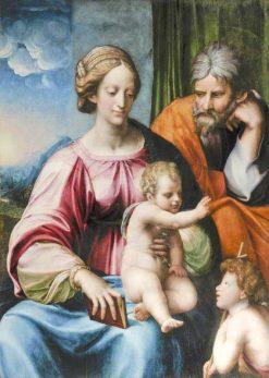 The Holy Family with Saint John the Baptist   Perino del Vaga   Oil Painting