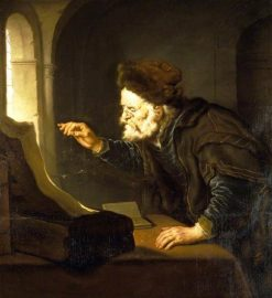 Old Man Weighing Coins | Salomon Koninck | Oil Painting