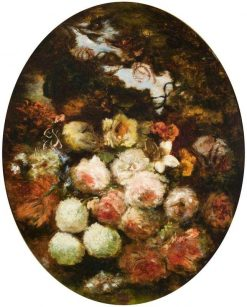 Flower Study | Narcisse Dìaz de la Peña | Oil Painting