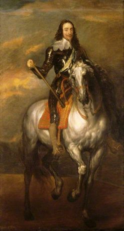 Charles I on Horseback (1600-1649) | Anthony van Dyck | Oil Painting