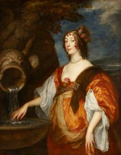 Lady Lucy Percy (c.1600-1660) Countess of Carlisle   Anthony van Dyck   Oil Painting