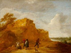 Sand Cliff and Figures | David Teniers II | Oil Painting