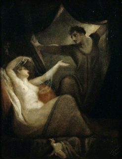 Scene from The Wife of Bath's Tale (from The Canterbury Tales) | Johann Heinrich Fuseli | Oil Painting