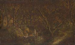 Nymphs Bathing | Adolphe Joseph Thomas Monticelli | Oil Painting