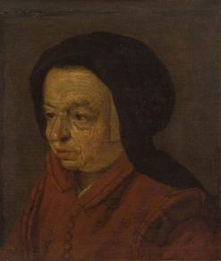 Portrait of an Elderly Lady   Adriaen van Ostade   Oil Painting