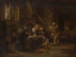 Peasants Drinking and Making Music | Adriaen van Ostade | Oil Painting