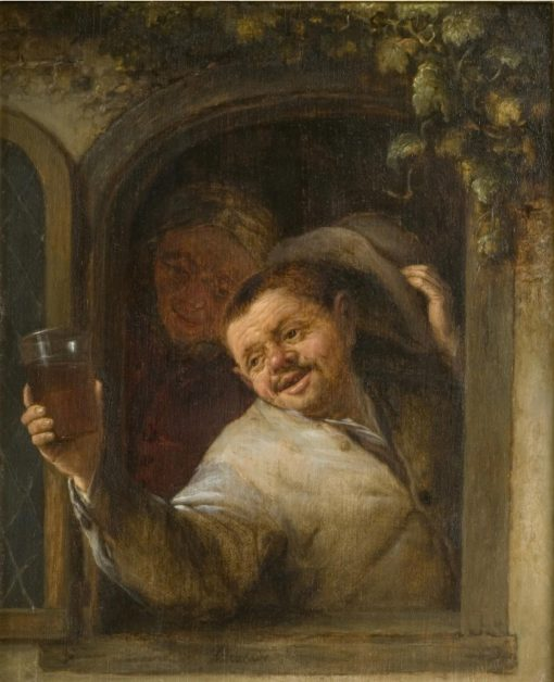 Peasants Drinking at a Window | Adriaen van Ostade | Oil Painting