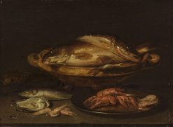 Still Life with Fish and Shellfish | Alexander Adriaenssen | Oil Painting