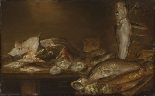 Still Life with Fish and Oysters | Alexander Adriaenssen | Oil Painting