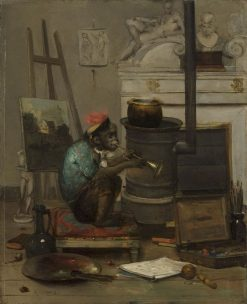 Monkey in a Studio | Antoine Vollon | Oil Painting