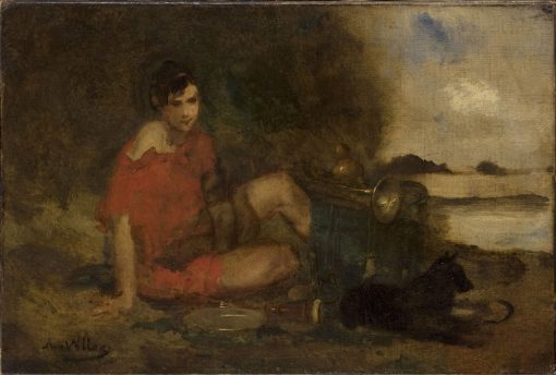 Musician | Antoine Vollon | Oil Painting