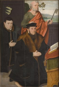 Arnold von Siegen II with His Son Arnold III and Saint Peter | Bartholomaeus Bruyn the Younger | Oil Painting
