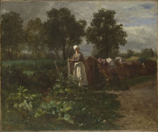 The Garden Gate | Constant Troyon | Oil Painting