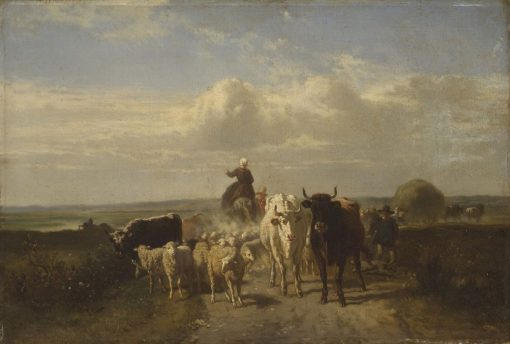 Going to Market | Constant Troyon | Oil Painting