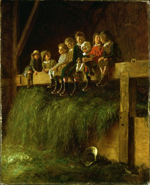 Barn Swallows | Eastman Johnson | Oil Painting