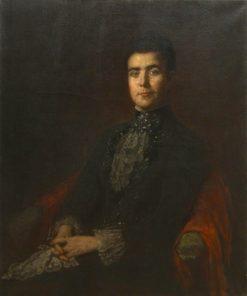 Portrait of Mrs. Ellen Inslee Eichholtz   Eastman Johnson   Oil Painting