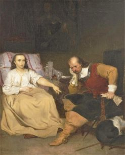 Oliver Cromwell and His Daughter | Emanuel Gottlieb Leutze | Oil Painting