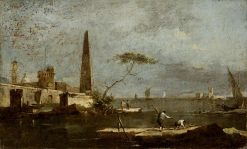 Capriccio with an Obelisk on a Lagoon | Francesco Guardi | Oil Painting
