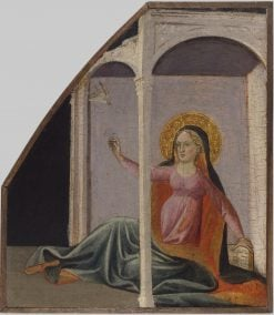 The Virgin Annunciate (fragment of triptych) | Giovanni dal Ponte | Oil Painting