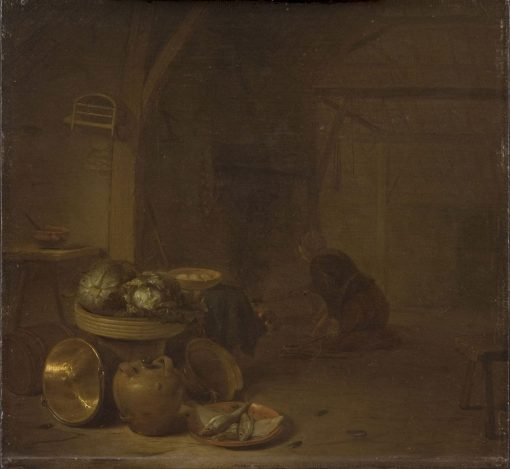 Woman in a Kitchen | Hendrik Martensz. Sorgh | Oil Painting