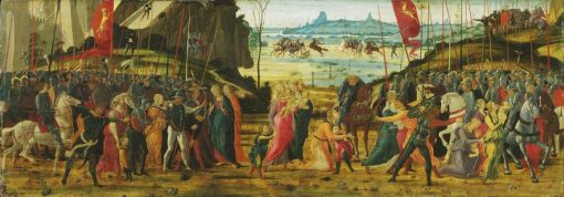 The Reconciliation of the Romans and Sabines | Jacopo del Sellaio | Oil Painting