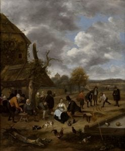 Landscape with an Inn and Skittles | Jan Havicksz. Steen | Oil Painting