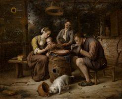 Prayer before the Meal | Jan Havicksz. Steen | Oil Painting