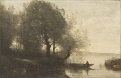 Fisherman | Jean Baptiste Camille Corot | Oil Painting