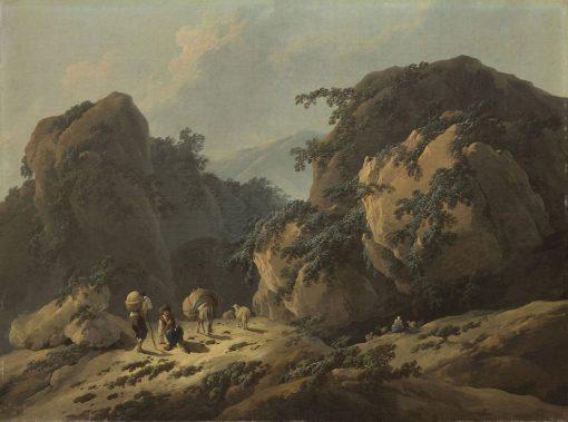 Landscape   Jean Pillement   Oil Painting