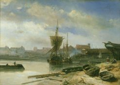 Shipyard | Johan Barthold Jongkind | Oil Painting