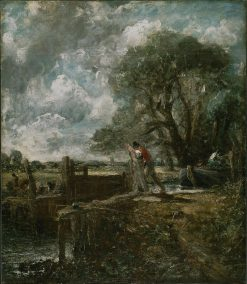 Sketch for 'A Boat Passing a Lock' | John Constable | Oil Painting
