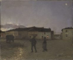 Evening at Damvillers | Jules Bastien Lepage | Oil Painting