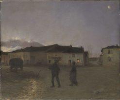 Evening at Damvillers | Jules Bastien Lepage | Oil Painting