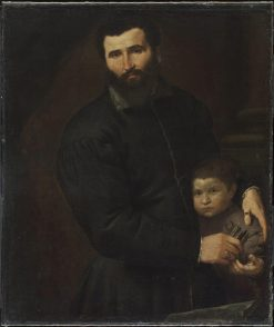 Surgeon Gian Giacomo and His Son Giovanni Antonio | Lorenzo Lotto | Oil Painting