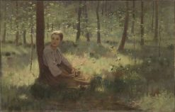 Girl in a Wood | Lowell Birge Harrison | Oil Painting