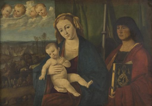 Virgin and Child with Saint James the Great   Marco Basaiti   Oil Painting