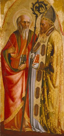 Saints John the Evangelist (?) and Martin of Tours | Masolino da Panicale | Oil Painting