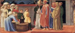 Sts Justus and Clement Multiplying the Grain of Volterra | Master of the Castello Nativity | Oil Painting