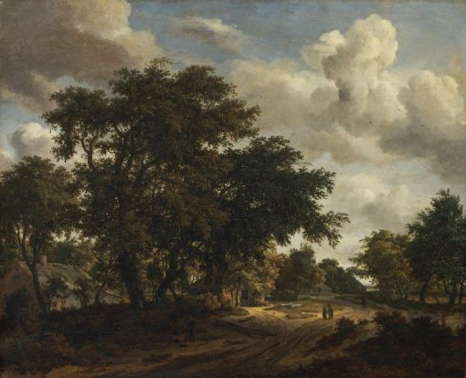 Landscape with a Wooded Road | Meindert Hobbema | Oil Painting