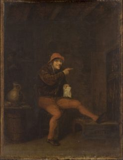 Interior with Two Figures   Philips Koninck   Oil Painting