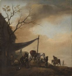 The Blacksmith's Shop | Philips Wouwerman | Oil Painting