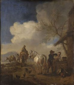 The Importunate Groom | Philips Wouwerman | Oil Painting