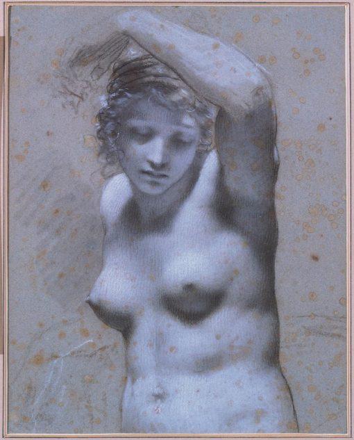 Bust of Female Figure   Pierre Paul Prud'hon   Oil Painting