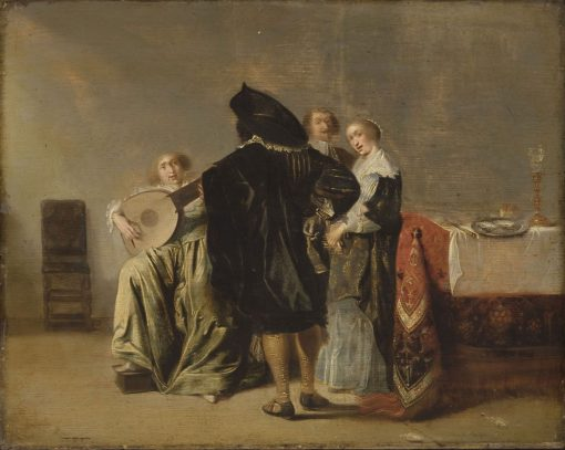 Lute Player | Pieter Codde | Oil Painting
