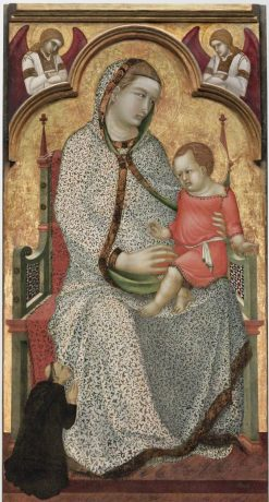 Virgin and Child Enthroned | Pietro Lorenzetti | Oil Painting
