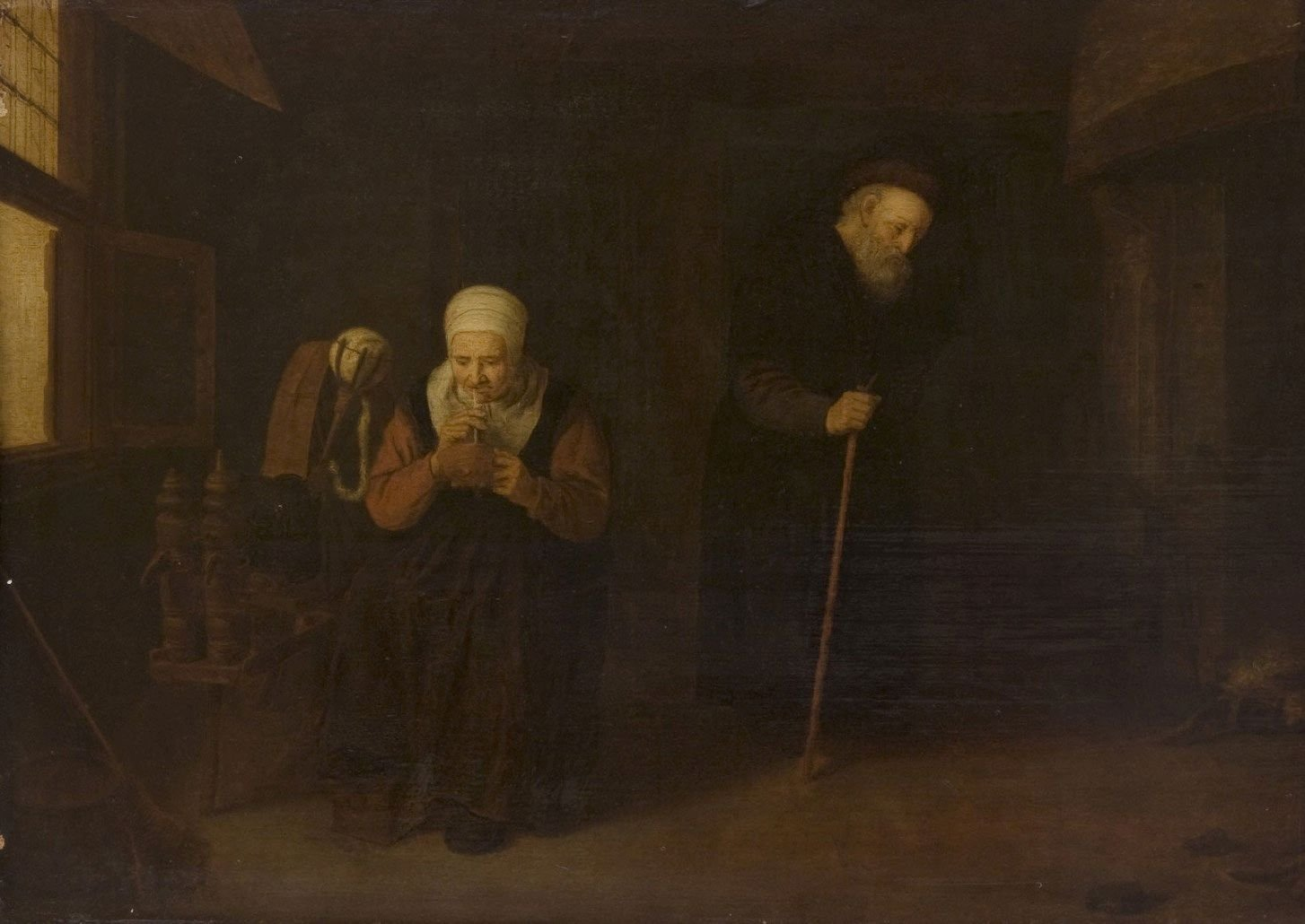 Interior with an Old Man and His Wife | Quiringh van Brekelenkam | Oil Painting