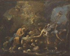 Christ Fed by Angels   Sebastiano Ricci   Oil Painting